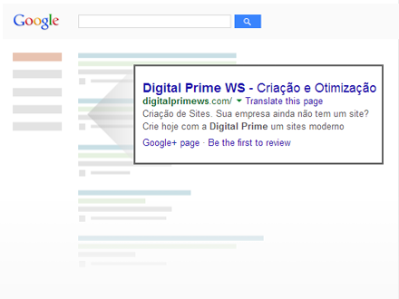 seu site nas buscas do google - Digital Prime Web Solutions