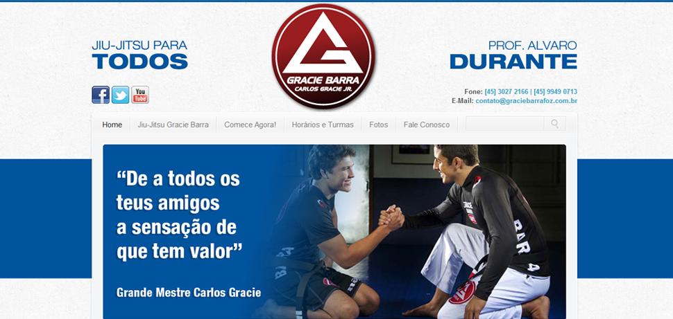 Site Gracie Barra - Digital Prime WS - Criação e Otimizaçao de Sites - SEO Foz