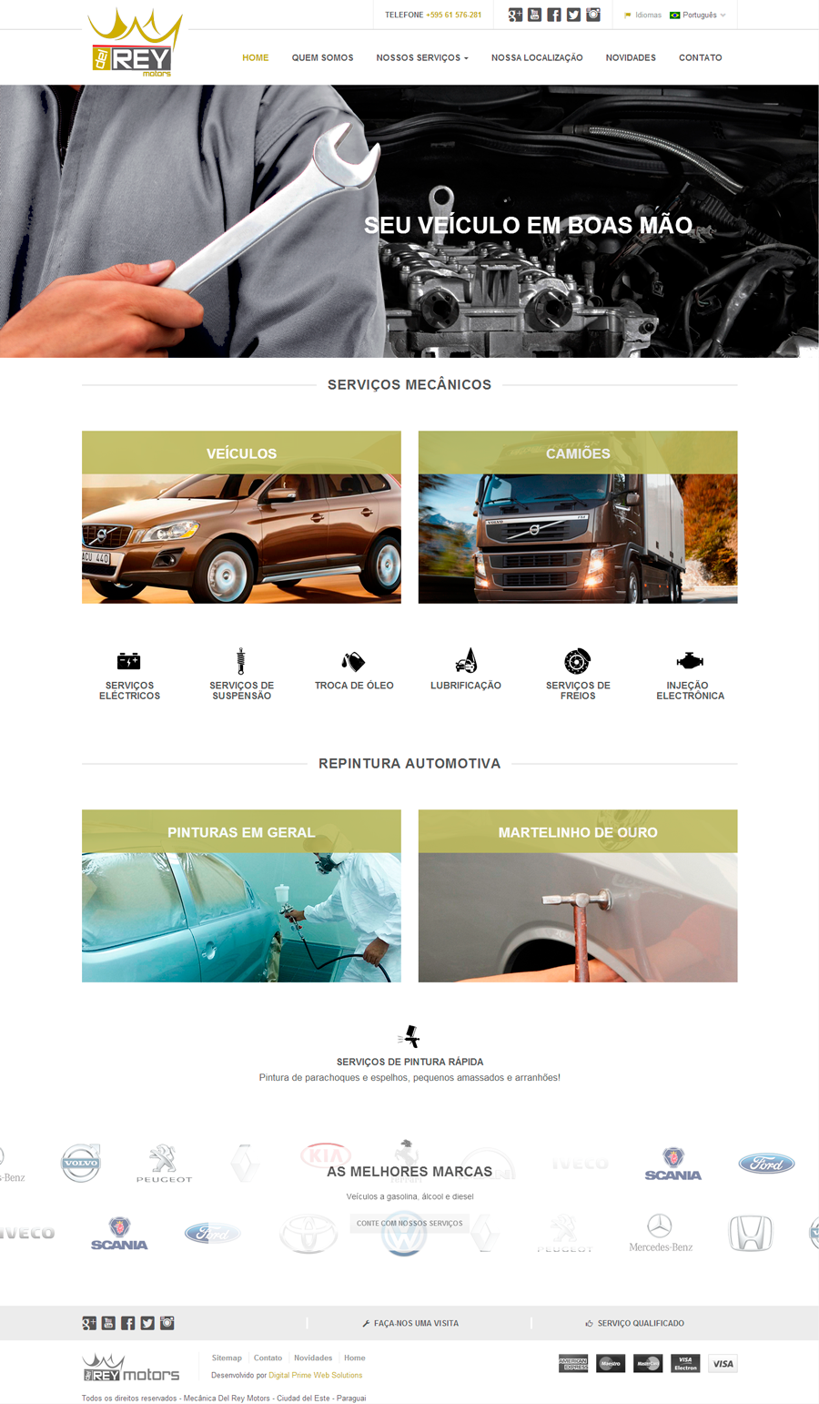 Site Del Rey Motors - Digital Prime Web Solutions - Criação de Sites
