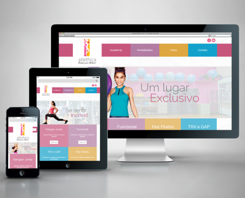 Site Atlethica Academia para Mulheres - Digital Prime Web Solutions